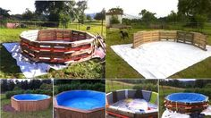Homemade Wood Pallet Swimming Pool Project The Homestead Survival - Homesteading -