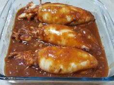 """Rellenong Pusit in Tomato Sauce (Stuffed Squid)     Rellenong Pusit in tomato sauce or Stuffed Squid , """"relleno"""" is the Spanish word for..."""