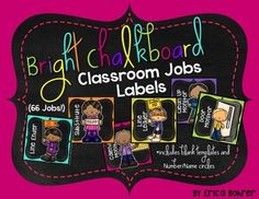 This download is for every classroom job imaginable!  I personally like to give each student in my classroom a job.  Kids love to feel important and to help their teacher. Therefore, I have included more jobs than you will need in this packet.  Pick and choose what works for you.