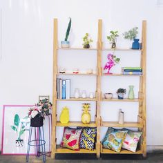 Ladder Bookcase, Ladder Decor, Shelves, Home Decor, Shelving, Homemade Home Decor, Shelf, Open Shelving, Decoration Home