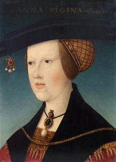 1521 Anna Of Hungary - mit Goldhaube !