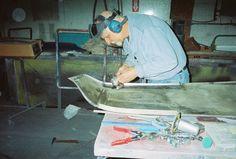 Inside metal repairs - Left (LT) side body panel.