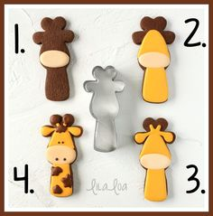 How to make cute and adorable giraffe sugar cookies - a royal icing cookie decorating tutorial with step-by-step photos and video!!