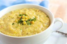 Vegan Creamy Roasted Corn Soup