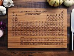 What's so awesome about this cutting board? It's elemental, duh! =)