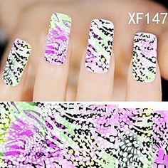 Tint 1X10PCS Full-cover Nail Art Stickers Leopard Print Series XF1476 *** Click on the image for additional details.