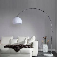 ORIGINAL RETRO DESIGN BOGENLAMPE BIG BOW WEISS höhenverstellbar XTF Lounge Stehlampe Bogenleuchte: Amazon.de: Küche & Haushalt