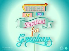 """There is no shortcut for greatness"" #quote //  Designer desktop by designer and illustrator Jo Cao"