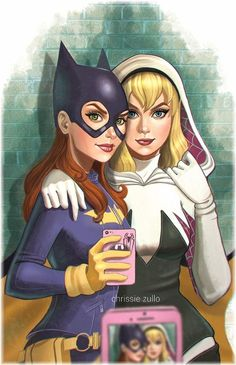Even superheroines need to take their selfies :P