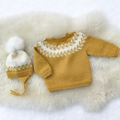 #snøløvlue  og  #snøløvgenser  te gudmorgutten  #sjølstrekka   #imponert Arm Knitting, Knitting For Kids, Knitting For Beginners, Crochet Books, Knit Crochet, Baby Barn, Baby Kind, Baby Sweaters, Baby Boy Outfits