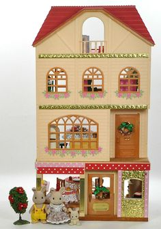 *fistuff* Sylvanian Families Decorated Furnished House Blackcurrant Cafe Big Lot