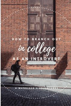 From one introvert to another: I know what it's like to struggle to break out of your comfort zone and meet new people. Click through to read how Bria managed to branch out in college as an introvert!