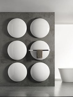 Design bathroom radiator Practical and stylish towel rail - Decor ideas for you 2018 Bathroom Fireplace, Bathroom Radiators, Bathroom Furniture, Bathroom Interior, Design Bathroom, Contemporary Radiators, Decorative Radiators, Warm Bathroom, Bathroom Modern