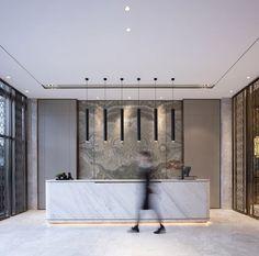 Chongqing Jinke Bocuishan Sales Office by AOD Design Dental Office Design, Office Interior Design, Office Interiors, Healthcare Design, Office Counter Design, Modern Interior, Design Offices, Office Designs, Commercial Design