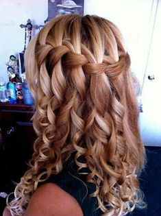 4. #Waterfall Braid - 38 Gorgeous #Braids You've Got to Learn Now ... → Hair #Braid