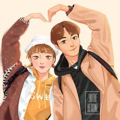 Swag Couples, Anime Couples, Cute Couples, Weightlifting Fairy Wallpaper, Weightlifting Kim Bok Joo, Weightlifting Fairy Kim Bok Joo Fanart, Weighlifting Fairy Kim Bok Joo, Kim Book, O Drama
