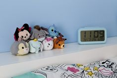 Ikea Hack Children's cabin bed & bedroom makeover Finishing touches, colourful Tsum Tsums on shelf Ikea Kids Bed, Ikea Bed, Ikea Hack Bedroom, Kids Bedroom, Bedroom Loft, Bedroom Ideas, Childrens Cabin Beds, Vinyl Record Storage, Tv Storage