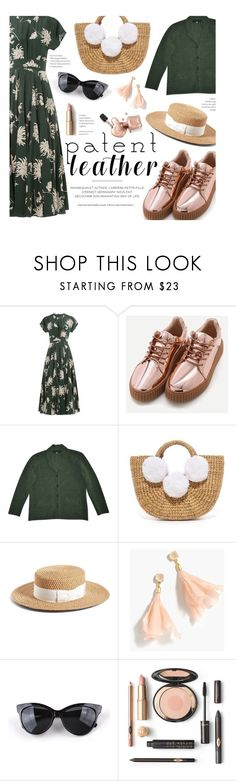 """""""Spring Scent: Patent Leather"""" by federica-m ❤ liked on Polyvore featuring Hemingway, Rochas, Carven, JADEtribe, Eric Javits, J.Crew, Spring, patentleather, strawhat and strawbags"""