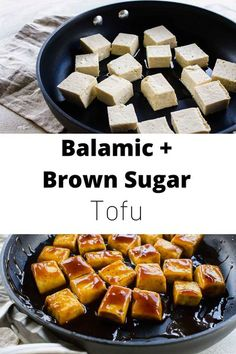 Brown sugar and balsamic tofu brings the delicious balance of sweetness and tang to your dinner plate. #tofurecipe #tofu Recipes Using Tofu, Tofu Recipes, Easy Healthy Recipes, Healthy Eats, Vegetarian Recipes, What Is Tofu, Pesco Vegetarian, Tofu Sandwich, Tofu Breakfast