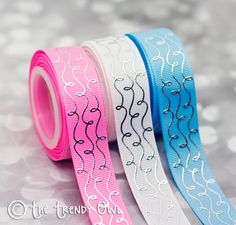 "7/8"" Silver Foil Doodle Swirls - Fairytale Princess"