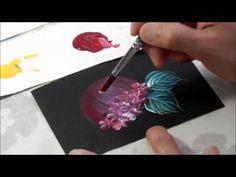 【トールペイント】描き方㉒ あじさい How to draw Hydrangea - YouTube