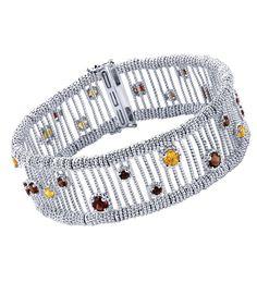 How gorgeous is this Gabriel & Co. Silver Byblos Tennis Bracelet?