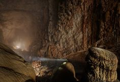 The largest cave in the world: the Son Doong Cave in Vietnam (yes, that is a person standing in the middle) - Imgur