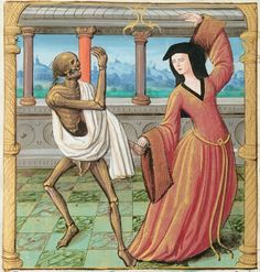 "Damien Kempf on Twitter: ""Third lockdown rule: improve my dancing… "" Dance Of Death, Macabre Art, Danse Macabre, Medieval World, Medieval Art, Medieval Fashion, Medieval Manuscript, Illuminated Manuscript, Shall We Dance"