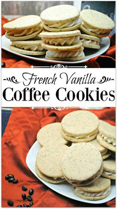 If you love vanilla and coffee, you are going to flip out when you taste these delicious French Vanilla Coffee Cookies.