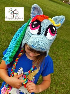 My Little Pony Rainbow Dash Crochet Hat http://crochetdlane.blogspot.com/2014/09/rainbow-dash-my-little-pony-hat.html
