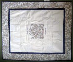 The Patchwork Bear Wedding Quilt made from your dress