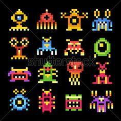 Alien Monster Silhouettes, Cliparts - Clipart.me