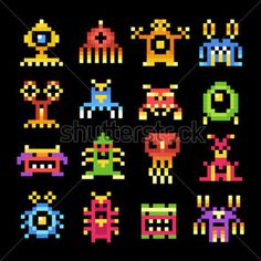 Alien Monster Silhouettes, Cliparts - Clipart.me