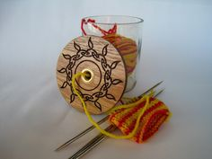 Yarn Jar with Laser Engraved Lid by WearhouseIndustries on Etsy