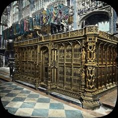 London, England: Tomb of Henry VII, Westminster Abbey, circa 1910 Uk History, Tudor History, British History, Asian History, History Facts, Elisabeth I, Elizabeth Of York, Renaissance, Royal Families