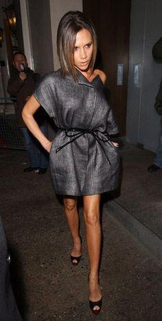 Who made Victoria Beckham's gray dress? Dress – Giambattista Valli dress