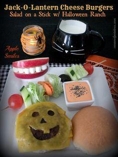 Jack-O-Lantern Cheese Burger Menu