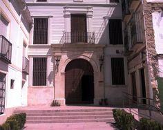 """#Cordoba - #Montilla - Palacete de la Casa de las Aguas. 37°35'18"""" - 4°38'22"""".  Fachada de la Casa de las Aguas, antiguo palacete del s. XIX y hoy centro cultural."""