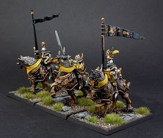 Empire Demigryph Knights (Averland colors)