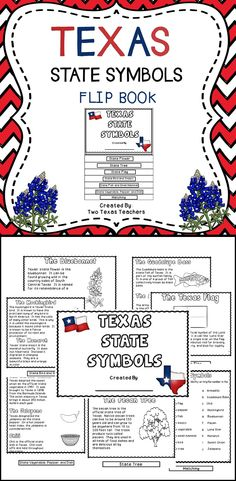 Texas State Symbols - Children will have fun learning about the state symbols of Texas with this engaging flip book! #Texas