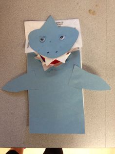 printable shark puppet just for spencer a shark craft been there done that 2775