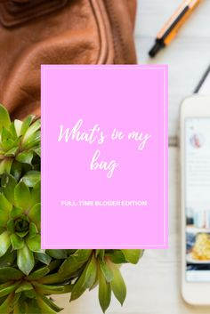 What's in a bag of a fulltime fashion blogger?