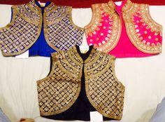 Hand work raw silk kotis by Araina Fabs