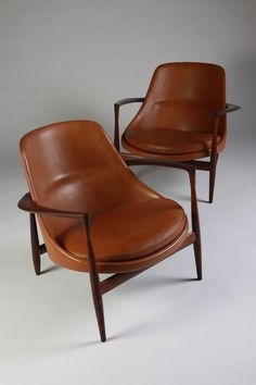 Pair of armchairs, Elisabeth. Designed by Ib Kofoed Larsen for Christensen & Larsen, Denmark.