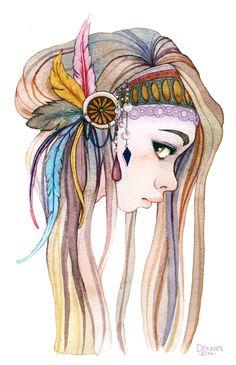 Laura Garcia, watercolor