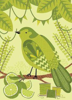 Green Bower By Hillary Bird On Etsy
