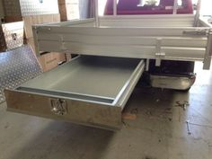 Under-Tray-Tool-Box-Trundle-Drawer-1500mm-Ute-Drawer-Roller-Drawer Truck Mods, Truck Camper, Truck Parts, Iveco Daily 4x4, Projector Ideas, Ute Canopy, Ute Trays, Chuck Box