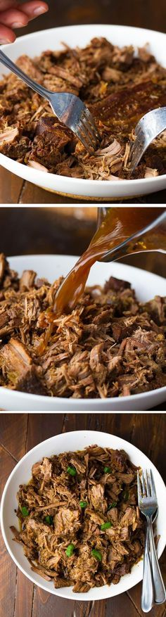 Slow Cooker Honey Garlic Beef, a simple 7-ingredient slow cooker recipe that cooks for 8-10 hours! Plus 3 recipes to use up your left-overs.