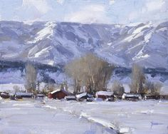 Colorado Winter by Dan Young Great Paintings, Beautiful Paintings, Beautiful Landscapes, Watercolor Landscape, Landscape Art, Landscape Paintings, Painting Snow, Winter Painting, Snow Scenes