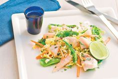 Fish with Thai coleslaw